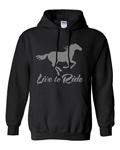 Live to Ride Hoodie Standard Weight Hoodie Sweatshirt