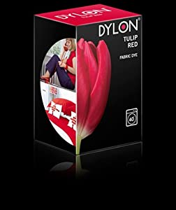 Dylon Machine Box Fabric Clothes Wash Dye 200g Available In Different Colour (Tulip Red)