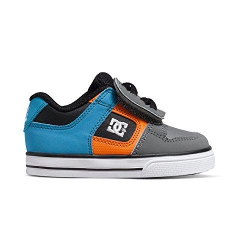 DC Pure V Youth Vulcanized Shoes Skate Shoe (Toddler), Armor/White/Orange, 6 M US Toddler