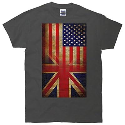 Vintage USA British Distress Flag T-Shirt