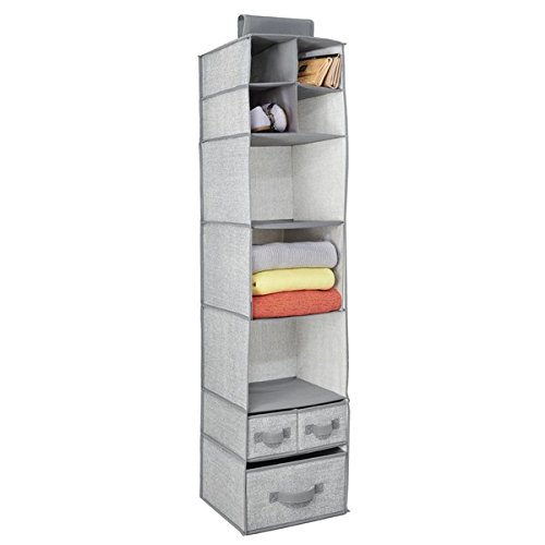 Double Rod Closet Organizer Freestanding Wardrobe Rack