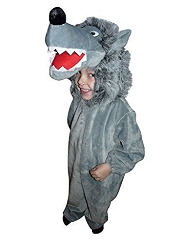 [Fantasy World Boys/Girls Wolf Halloween Costume, Size 7, F49] (Big Bad Wolf Outfit)