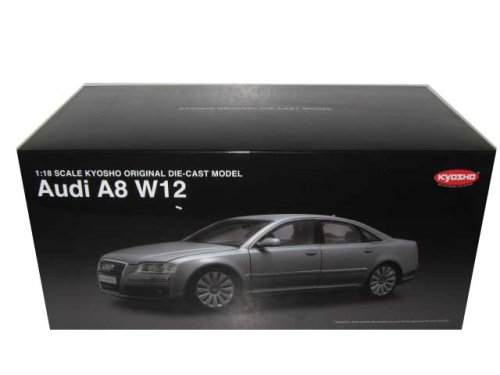 Audi A8 W12 Gray Diecast Car Model 1/18 Kyosho (Audi A8 Model Car compare prices)