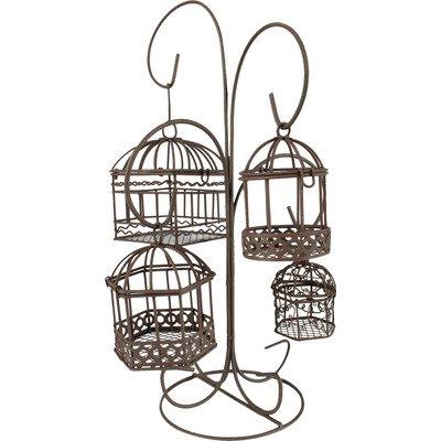 "Blossom Bucket Five Piece Hanging Birdcage Set, 8"" x 12"" - 1"