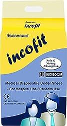 Incofit Under Sheet / Under pads, Pack of 10, 60-90cm (23.6
