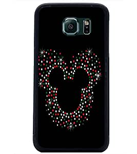 PrintDhaba Mickey Impression D-1961 Back Case Cover for SAMSUNG GALAXY S6 (Multi-Coloured)