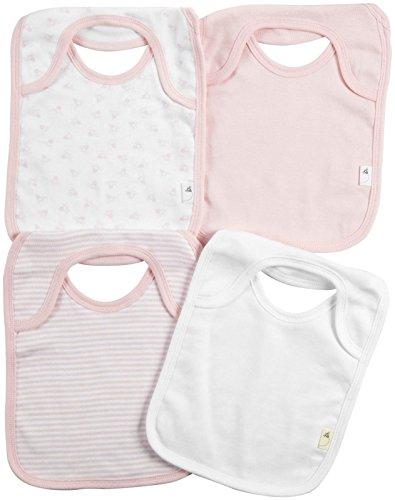 Burt's Bees Baby Baby Girls' 4 Pack Bibs (Baby) - Blossom - One Size