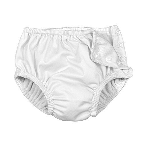 i play. Baby Ultimate Reusable Snap Swim Diaper, New White, 12 Month
