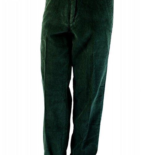 Nautica Classic Fit Danforth Corduroy Kelp Seas Green Flat Front Trouser Pant