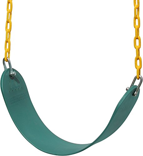 "Buy Discount Jungle Gym Kingdom - Swing Seat Heavy Duty 66"" Chain 30"" Plastic Coated 