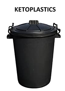 80/85 Litre Black Bin with lockable handles (made in the uk)