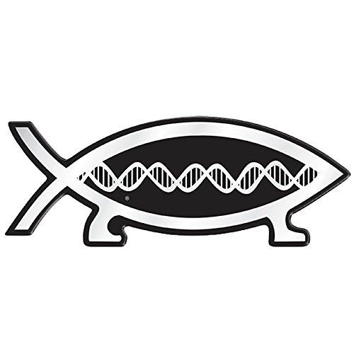 DNA Fish Darwin Magnetic Car Emblem - 5.5