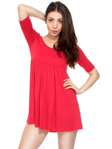 Simplicity Girl's Casual Babydoll Style Dress w/Half Sleeves
