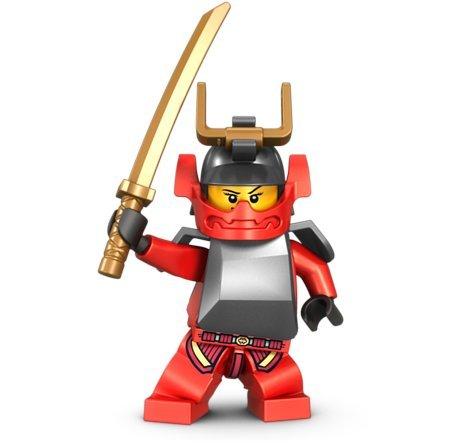 Samurai X with Gold Sword - LEGO Ninjago Minifigure - 2 Faces