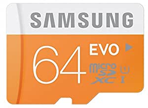 Samsung Memory 64 GB EVO MicroSDXC UHS-I Grade 1 Class 10 Memory Card with SD Adapter (Frustration Free Packaging)