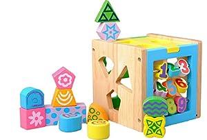 Smart House Cartoon-Ziffern Form passenden Spielzeug Bausteine Puzzle Early Learning Spielzeug Kreative Geburtstagsgeschenk Holz Bildungs-Spielzeug f¨¹r Kinder Weihnachten Spielzeug