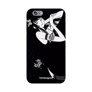 HomeSoGood Beautiful Princess Black 3D Mobile Case For iPhone 6 (Back Cover)