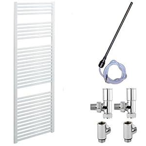 500 x 1500 Straight White Heated Towel Rail   Dual Fuel       Customer review