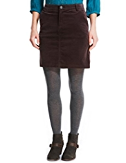 Indigo Collection Cotton Rich Velvet Mini Skirt