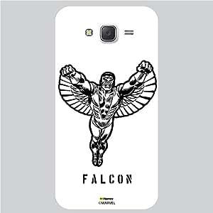 Hamee Original Marvel Character Licensed Designer Cover Slim Fit Plastic Hard Back Case for Samsung Galaxy J7 - 2016 Edition (Falcon Illustration/White )