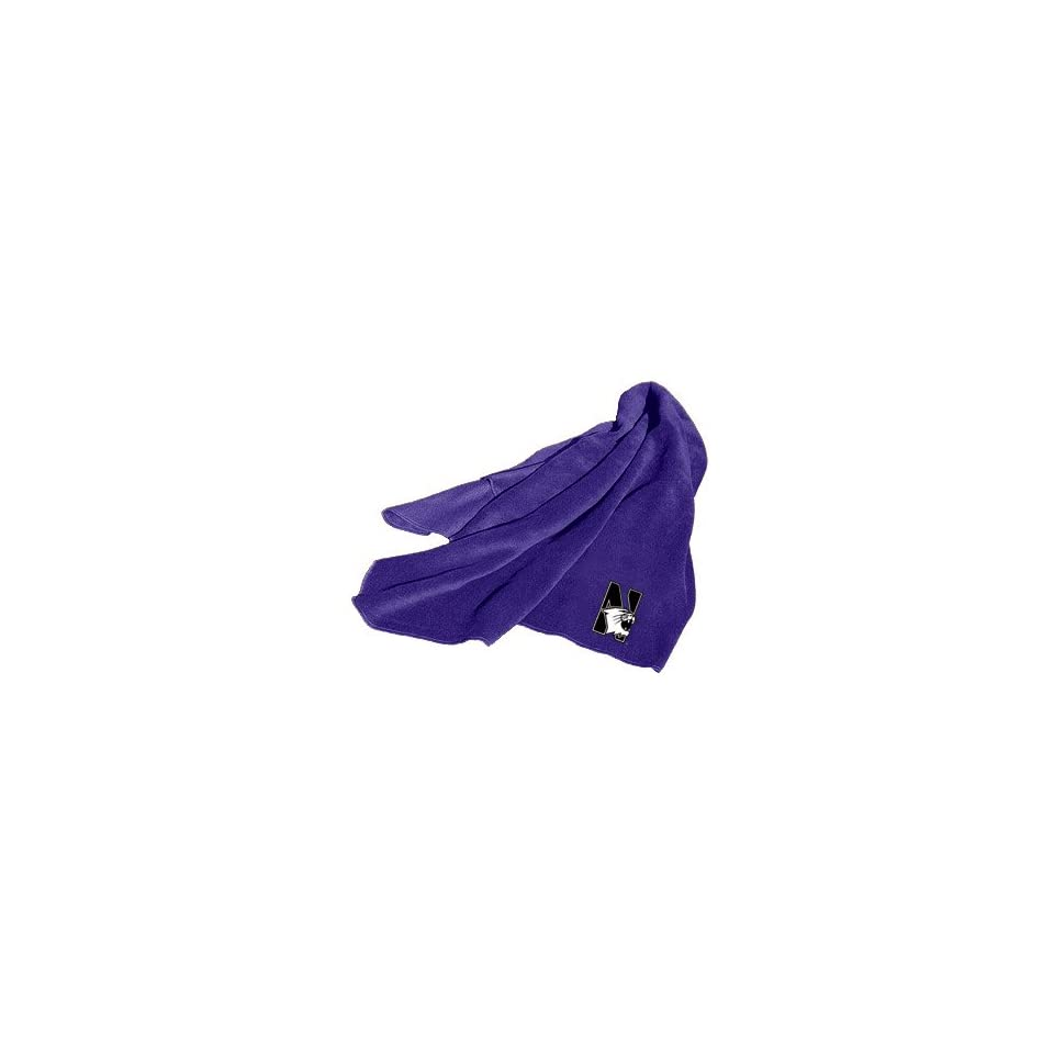 Northwestern University Wildcats Fleece Throw Blanket Sports