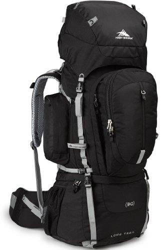 High Sierra Long Trail 90 Internal Frame Pack, Black/Black/Silver front-742655