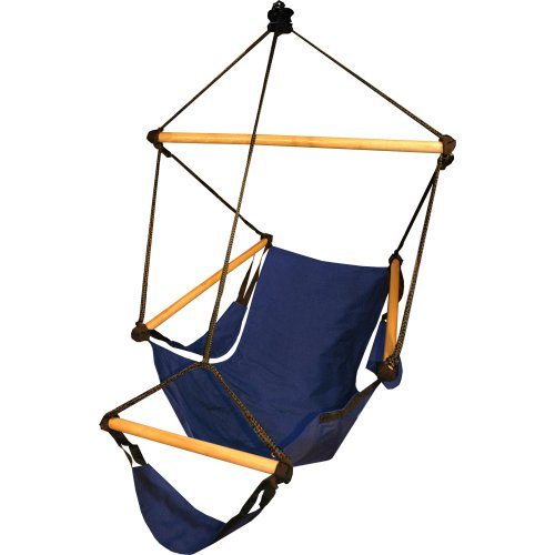 Hammaka 1031-HMKA Cradle Chair Blue, Wood