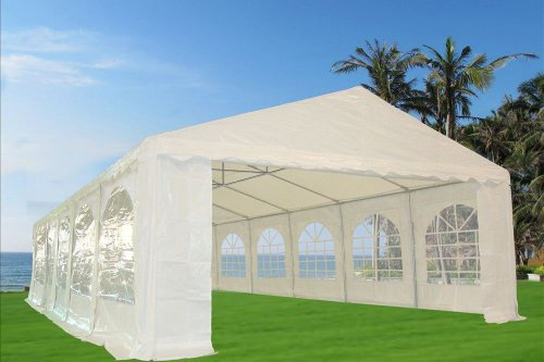 32'x20' PE Party White - Heavy Duty Party Wedding Canopy Gazebo Carport - By DELTA Canopies picture