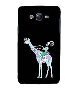 EPICCASE girl riding giraffe Mobile Back Case Cover For Samsung Galaxy J7 (Designer Case)