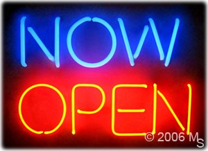 "Neon Sign - NOW OPEN - Large 15"" x 20"": Amazon.com: Grocery & Gourmet"