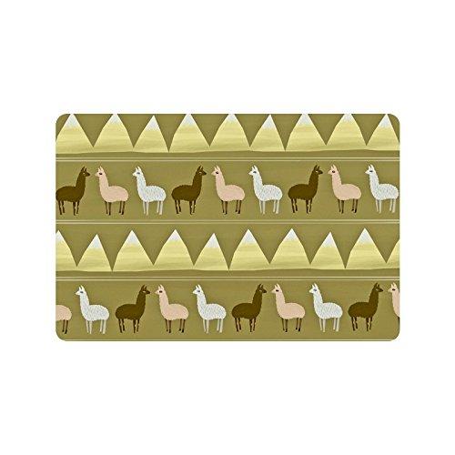 New Style - Fashion Funny Llama Machine-washable Indoor/Outdoor Doormat 23.6