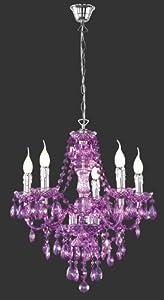 lampadari viola : ... gocce barocco in plexiglass viola: Amazon.it: Illuminazione