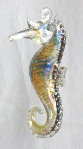 Brownglass Seahorse Christmas Ornament