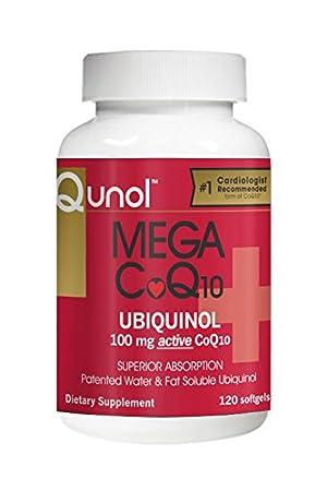 Qunol Mega CoQ10 Softgels, 100 Mg, 120 Count