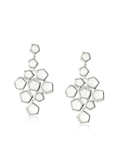 Riccova Clear Faceted Crystal Chandelier Earrings