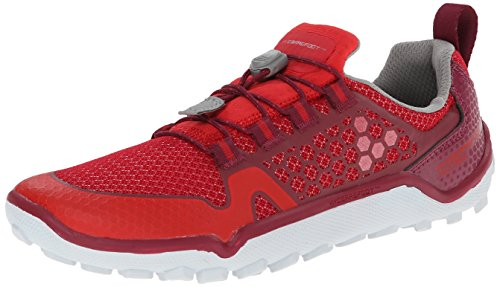 Vivobarefoot Women's Trail Freak Off Road Run Walk Trail Shoe, Ruby/Raspberry, 39 EU/8.5 M US
