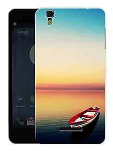 "Humor Gang Beautiful Scenery Boat Water Printed Designer Mobile Back Cover For ""Yu Yureka Plus"" (3D, Matte, Premium Quality Snap On Case)"