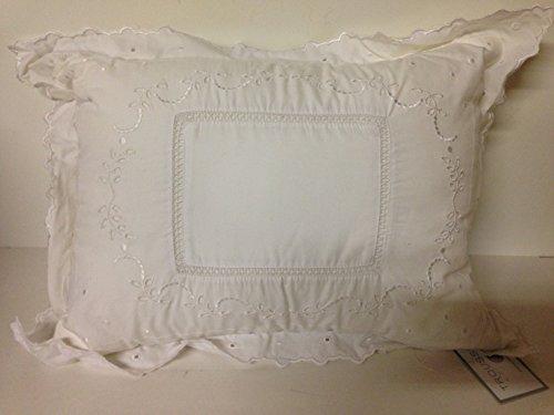 "Martha Stewart Collection Bedding, Trousseau Ivy 12X16"" Decorative Pillow, Ivy Dot front-1020730"