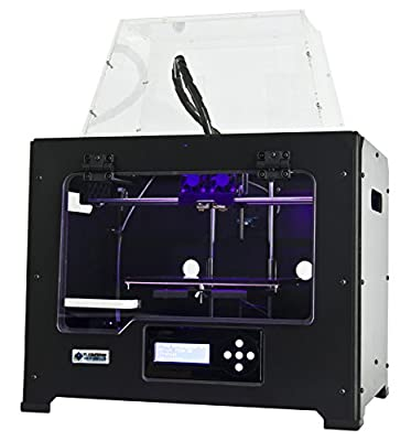 FlashForge 3d Printer Creator Pro, Metal Frame Structure, Acrylic Covers, Optimized Build Platform, Dual Extruder W/2 Spools, Works with ABS and PLA