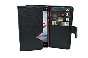 TOTTA PU Leather Wallet Pouch with Card Holder Xolo A500