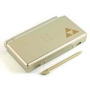 Zelda Gold - Nintendo DS Lite Complete Full Housing Shell Case Replacement Repair w/ Hinge Set