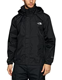 The North Face Mens Resolve Rain Jacket (X-Large, TNF Black)