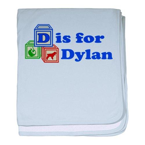 Cafepress Baby Blocks Dylan Baby Blanket - Standard front-1079070