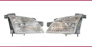 1997-2005 CHEVY VENTURE Van Headlight Set LH Driver and RH Passenger Headlights 97 98 99 00 01 02 03 04 05 Left and Right Hand Headlamp Pair for Chevrolet 1997 1998 1999 2000 2001 2002 2003 2004 2005 Venture