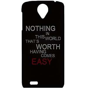 Casotec Life Quotes Design Hard Back Case Cover For Lenovo S820