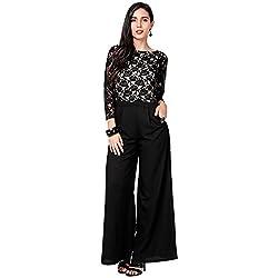 Eavan Women's Party Wear Shiny Polyester Jumpsuit