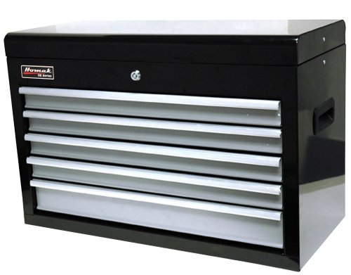 HOMAK BG02026503 27-Inch SE Series 5-Drawer Top Chest - Black/Gray