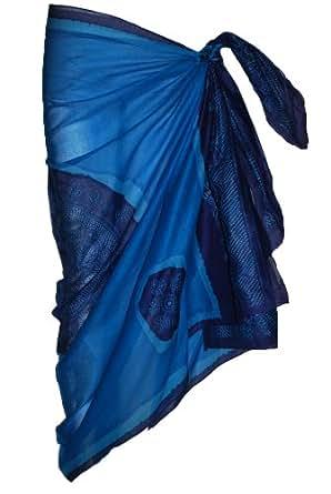 Blue Sarong with Bandana Design