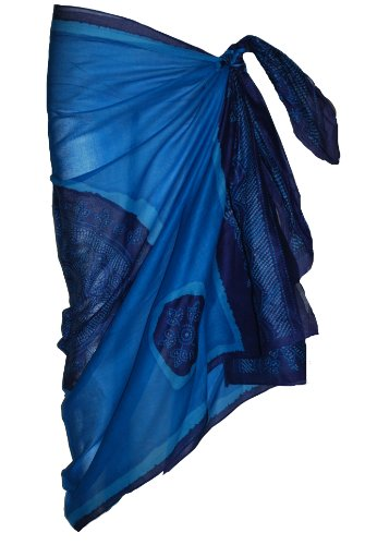 Blue Sarong with Bandana Design