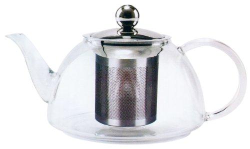 Dozenegg Uniware Pyrex Heat Resistant Glass Kettle Tea Pot, 800Ml